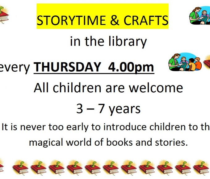 Storytime Clonmel Library Every Thursday