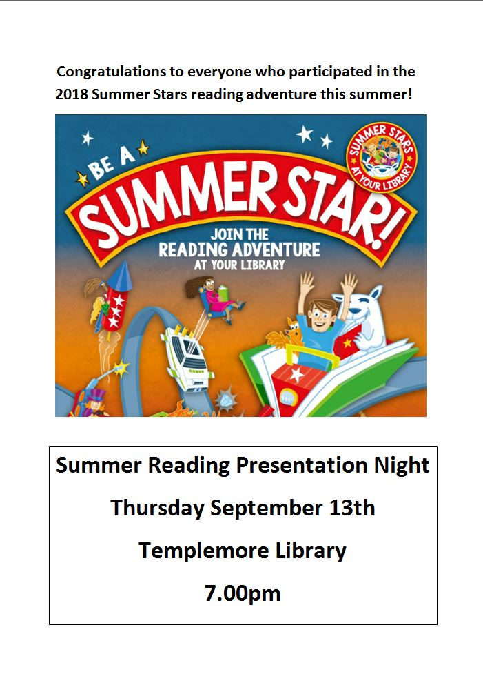 Templemore Summer Reading Stars Presentation Night