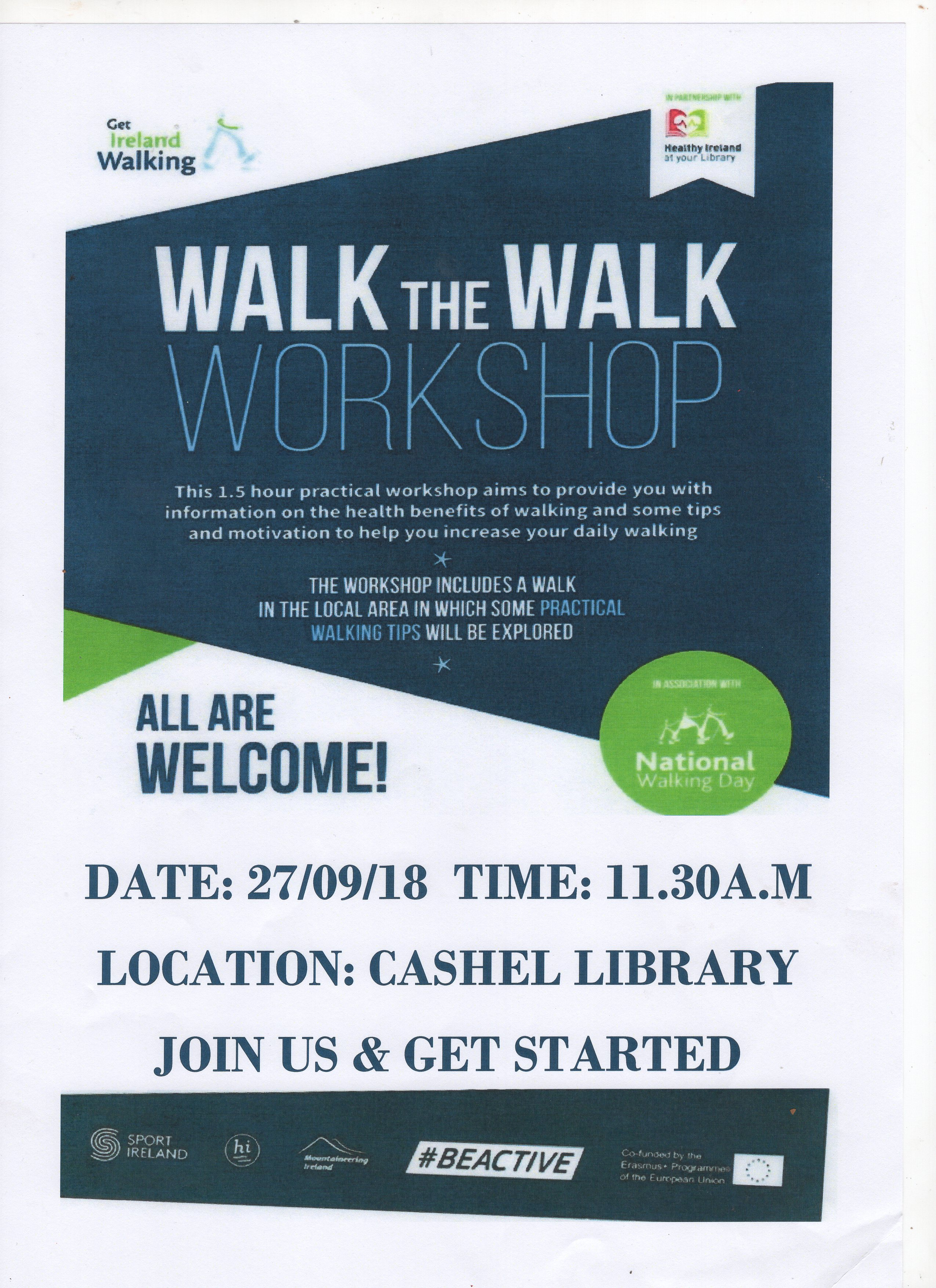 Walk the Walk Workshop in Cashel library