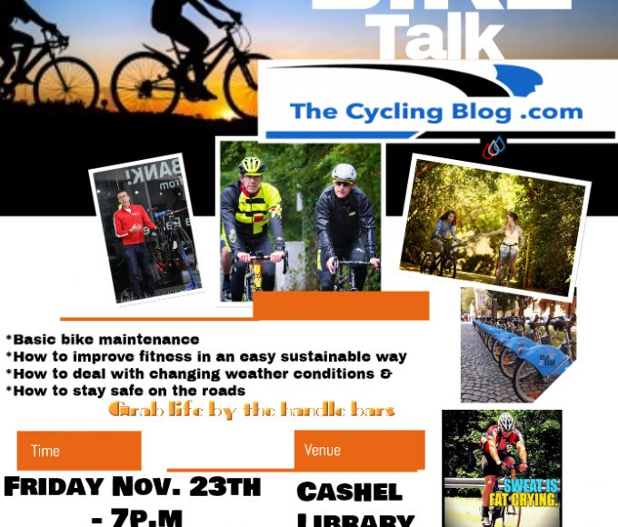 Cashel: Barry Meehan Talk On Cycling As Part Of Healthy Ireland At Your Library Programme