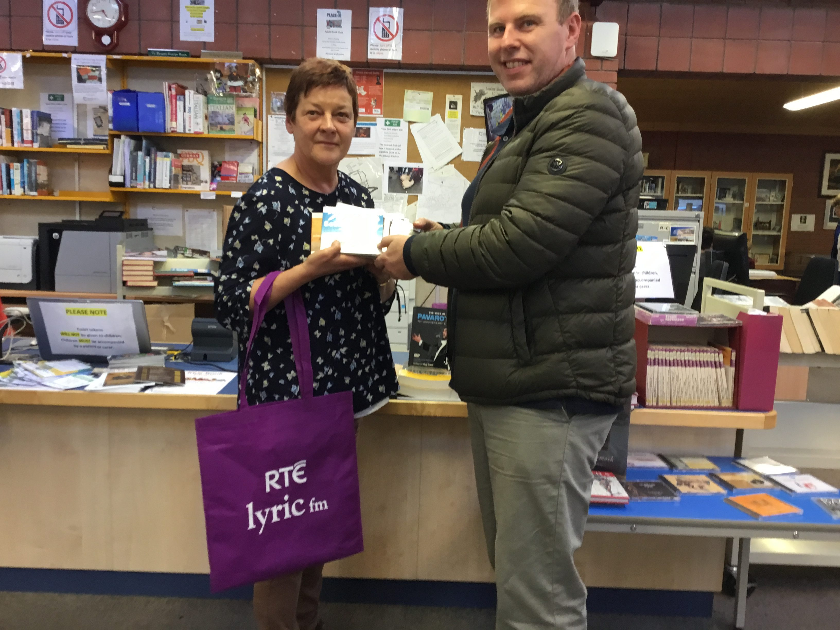 Lyric FM Donation To Clonmel Library