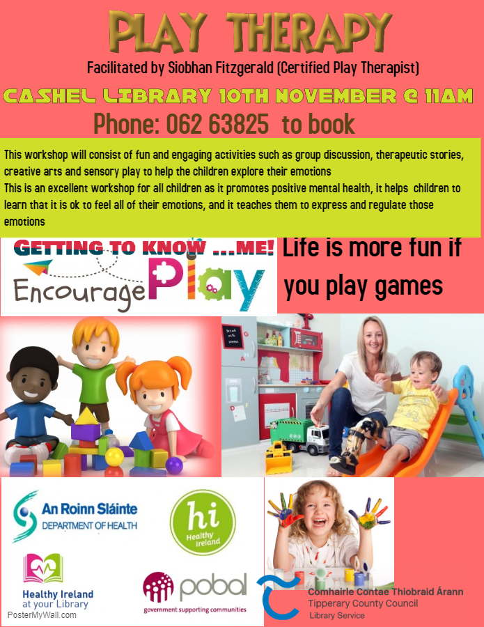 Cashel: Play Therapy Workshop for 5-10 year olds.