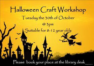 halloween craft workshop 2018