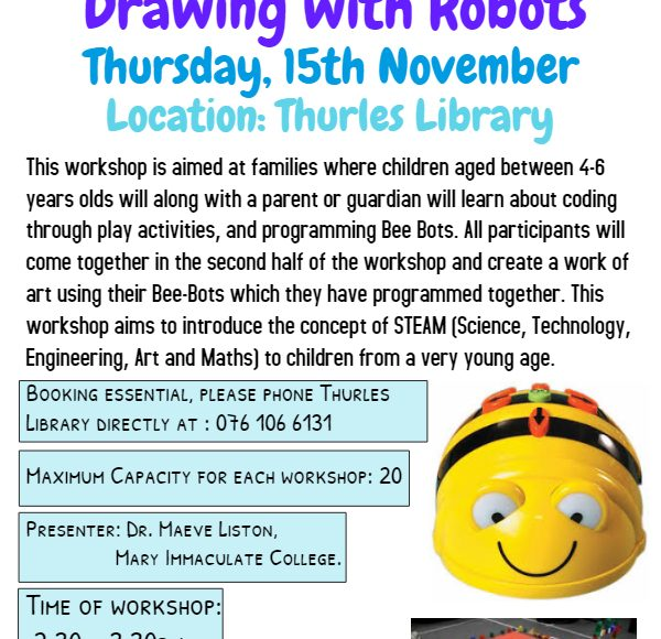 Drawing With Robots In Thurles Library