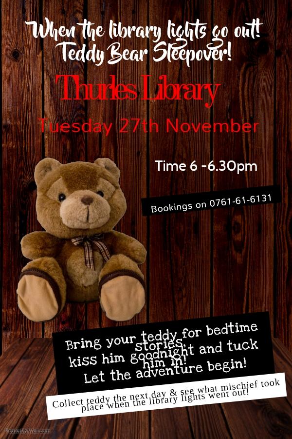 Teddy Bear Sleepover – When Library Lights Go Out!