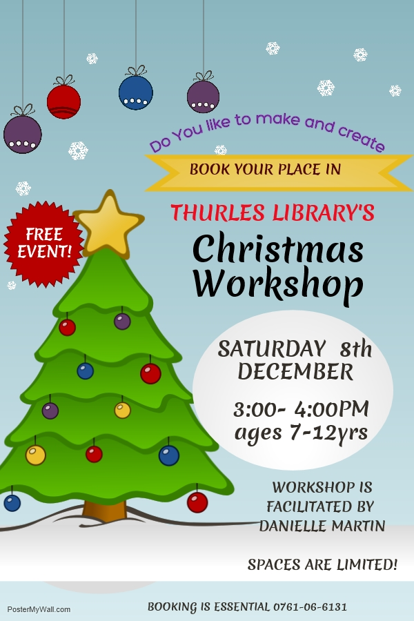 Christmas Workshop For 7-12yrs In Thurles Library
