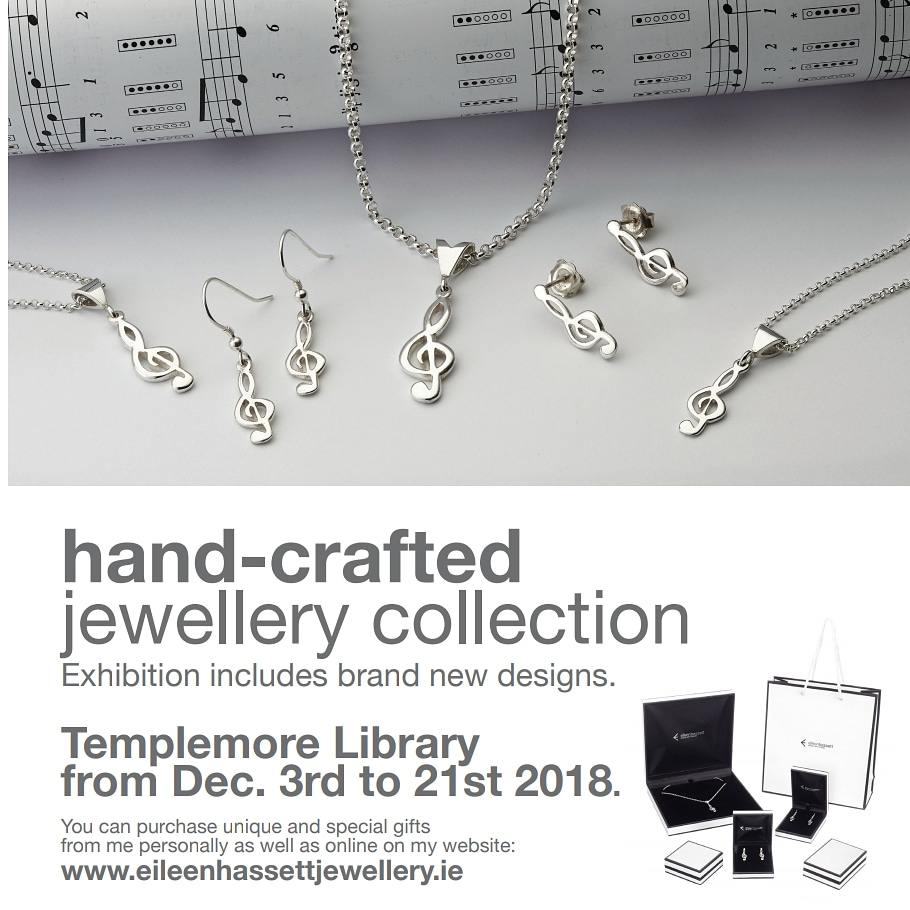 Hand-crafted Jewellery Collection By Eileen Hassett In Templemore Library – Also On View For The Month Of January