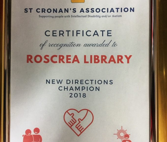 Roscrea Library Receives New Directions Champion Award