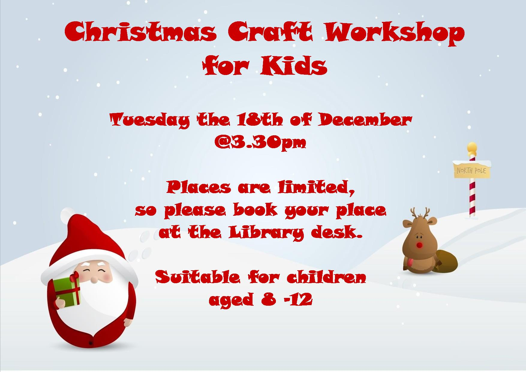 Cashel Christmas Craft Workshop For 8 12 Year Olds Tipperary