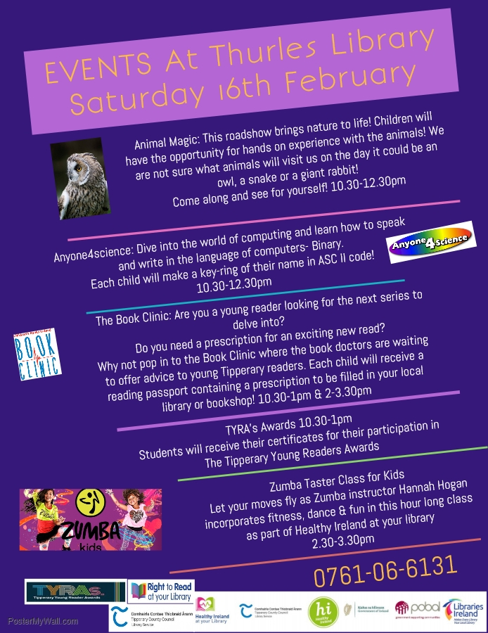 Upcoming Events In Thurles Library Saturday 16th February