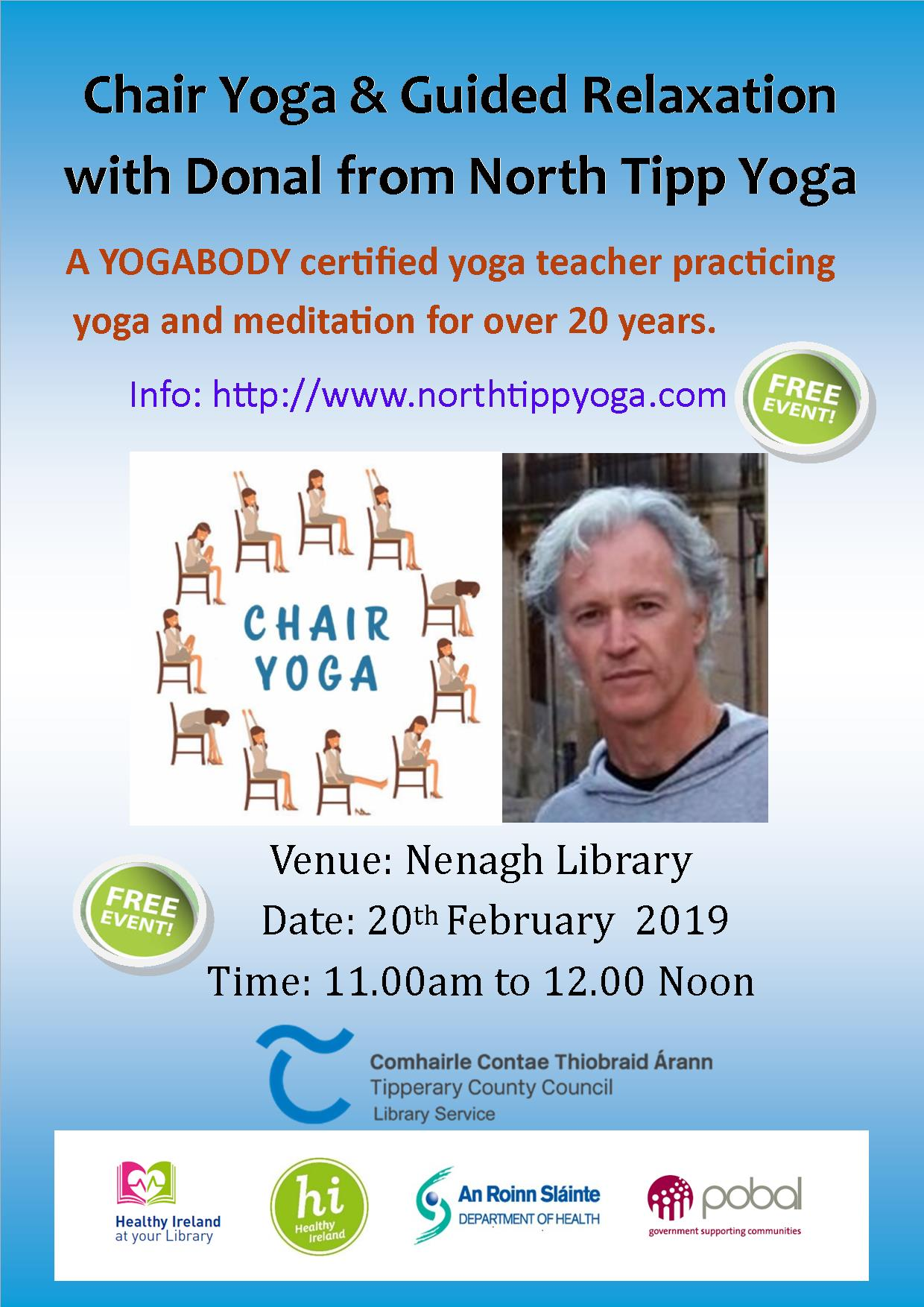Chair Yoga & Guided Relaxation With Donal : Nenagh Library