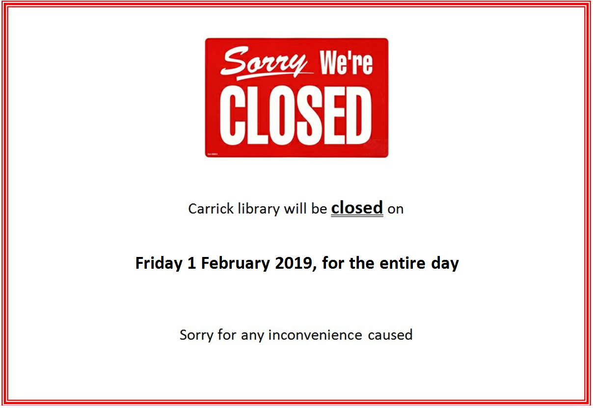 Carrick Library Closure