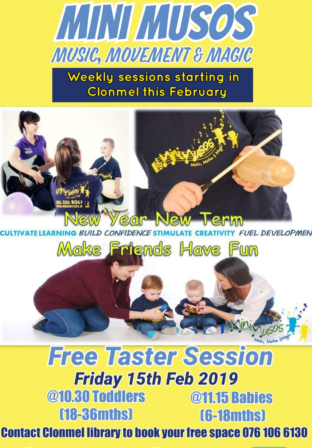 Minimusos Free Introductory Class For Babies And Toddlers At Clonmel Library