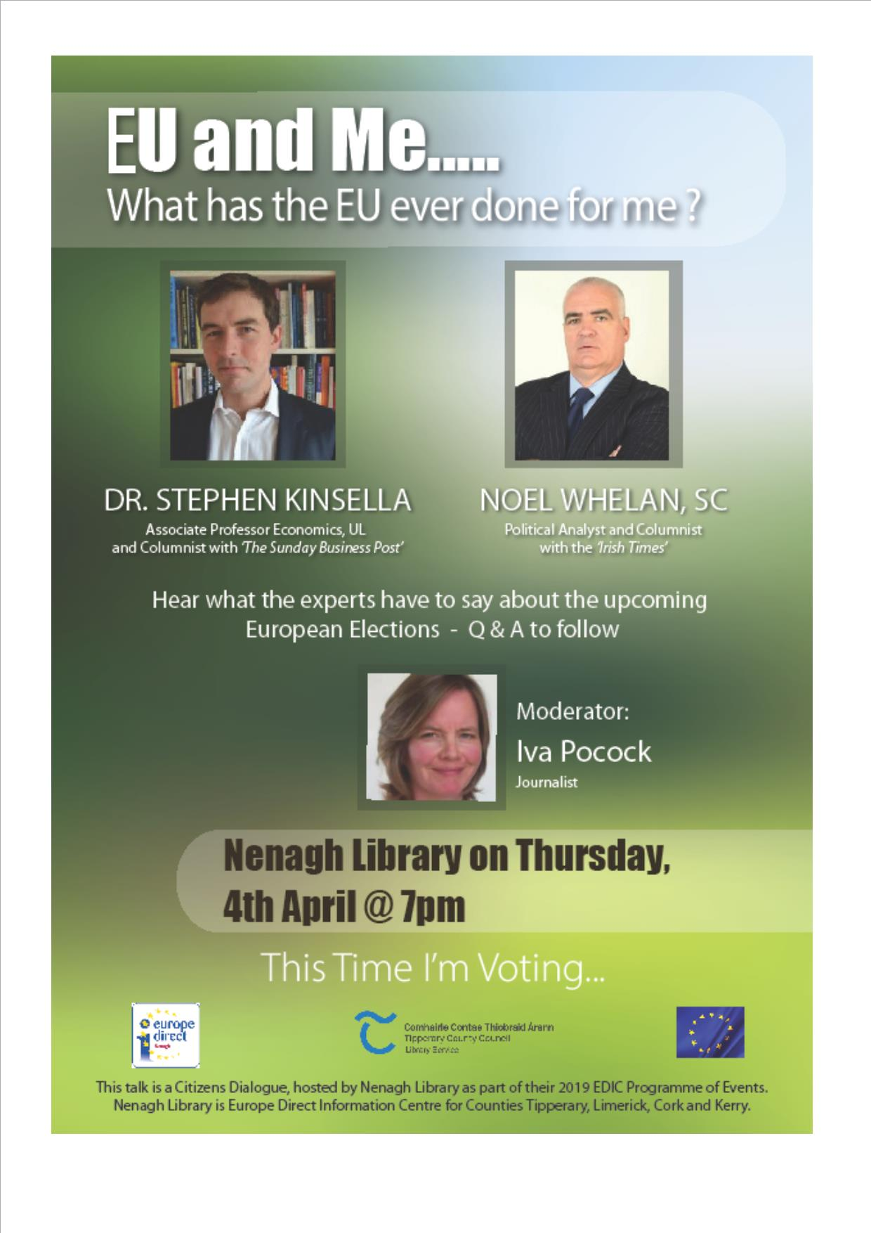 'EU And Me…What Has The EU Ever Done For Me?': A Citizens Dialogue In Nenagh Library