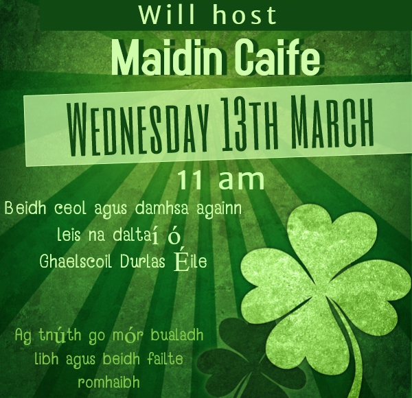 "Thurles Library Hosts ""Maidin Caife"""