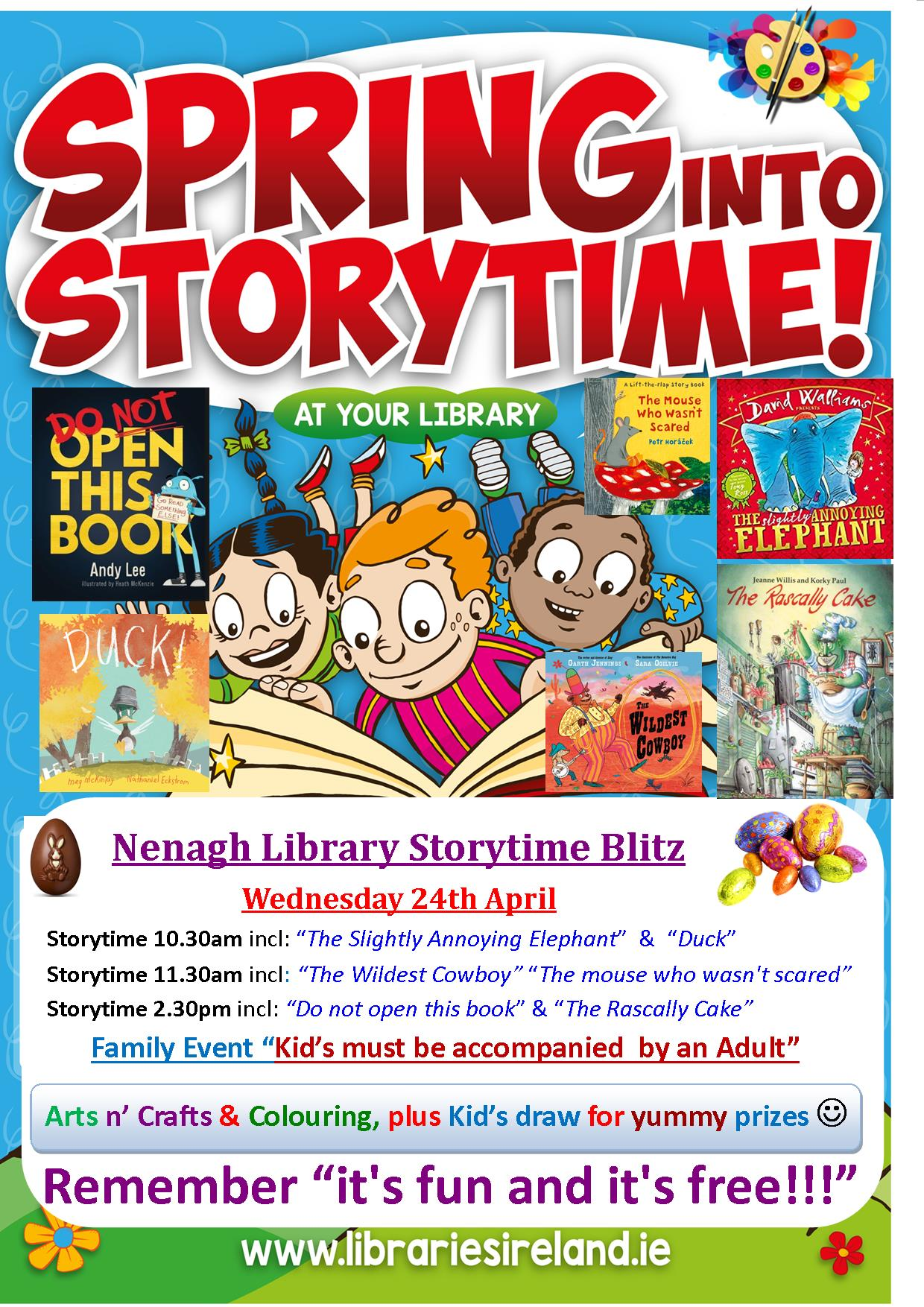 Spring Into Storytime At Nenagh Library