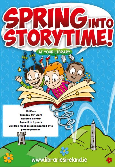 Storytime In Roscrea Library Tuesday 16th April