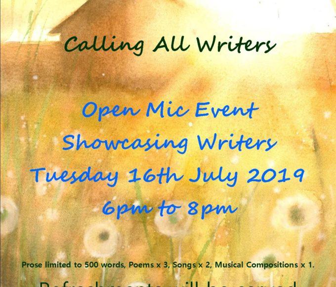 Cashel: Calling All Writers!