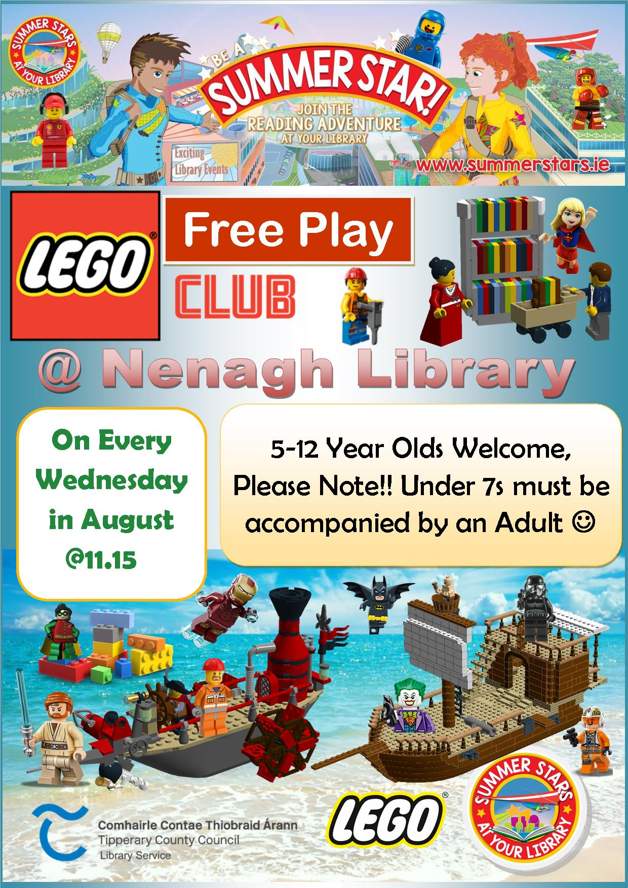 Nenagh Library Lego Club For August