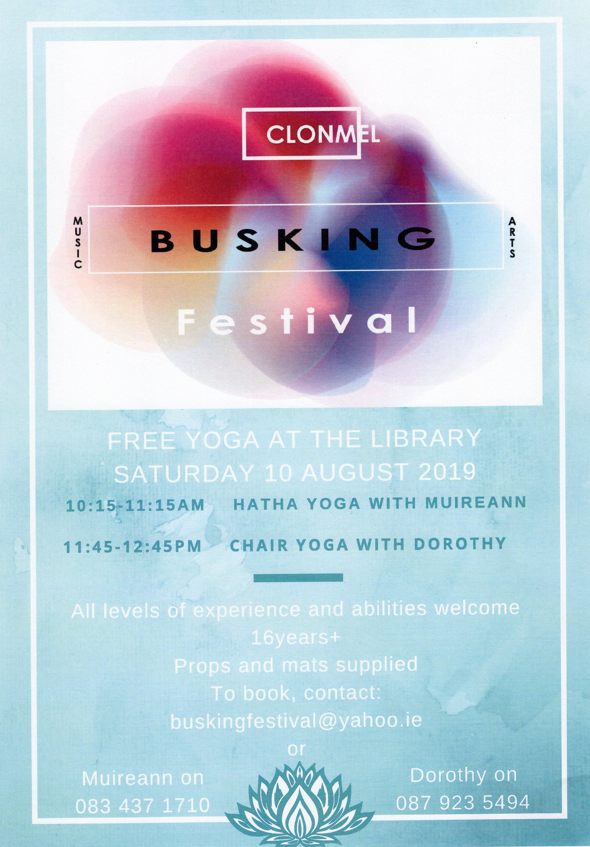 Free Yoga at Clonmel Library