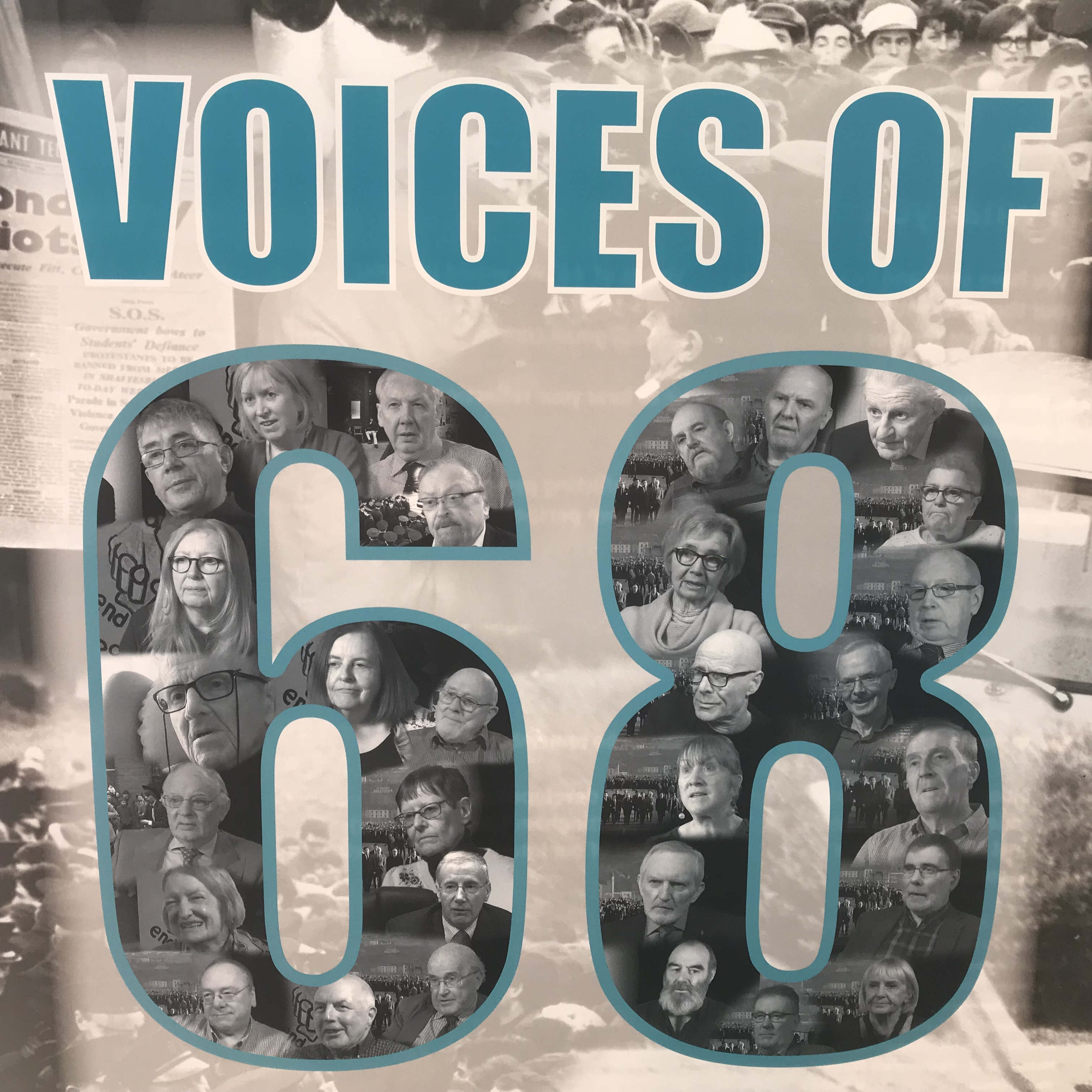 Voices Of '68 Exhibition – Thurles Library, August 2019