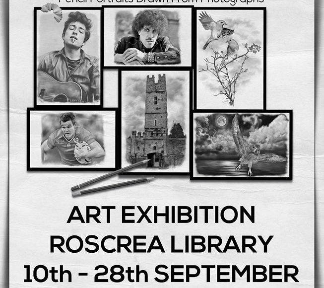 Exhibition By Sean O'Sullivan : Pencil Portraits Drawn From Photographs