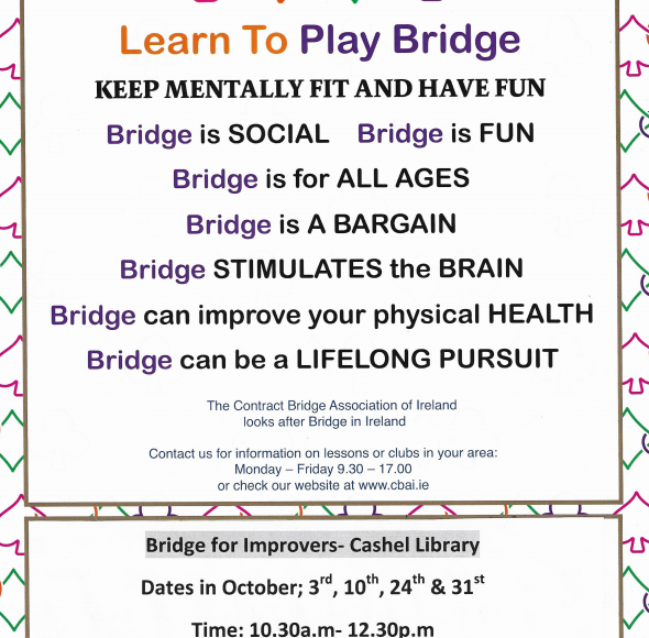 Bridge Classes For Improvers In Cashel Library