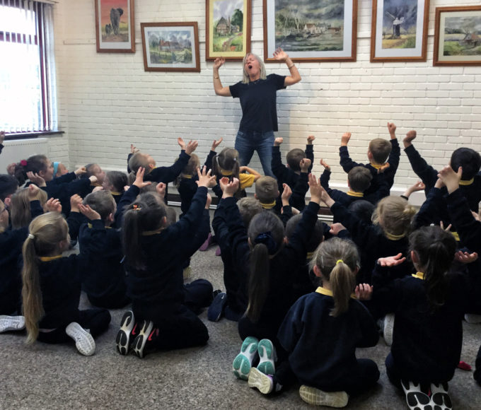 Gillian Perdue Visits Roscrea Library