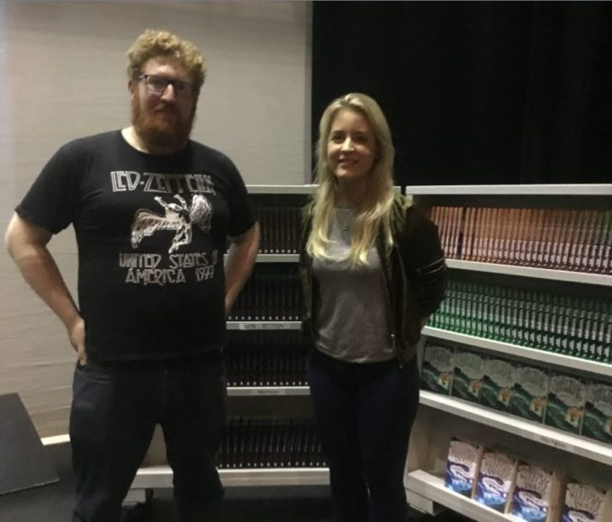 Dave Rudden And Cat Doyle Visit Thurles Library