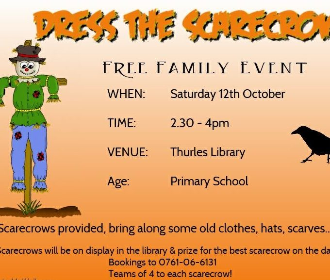 Scarecrow Workshop -12th October Thurles Library!