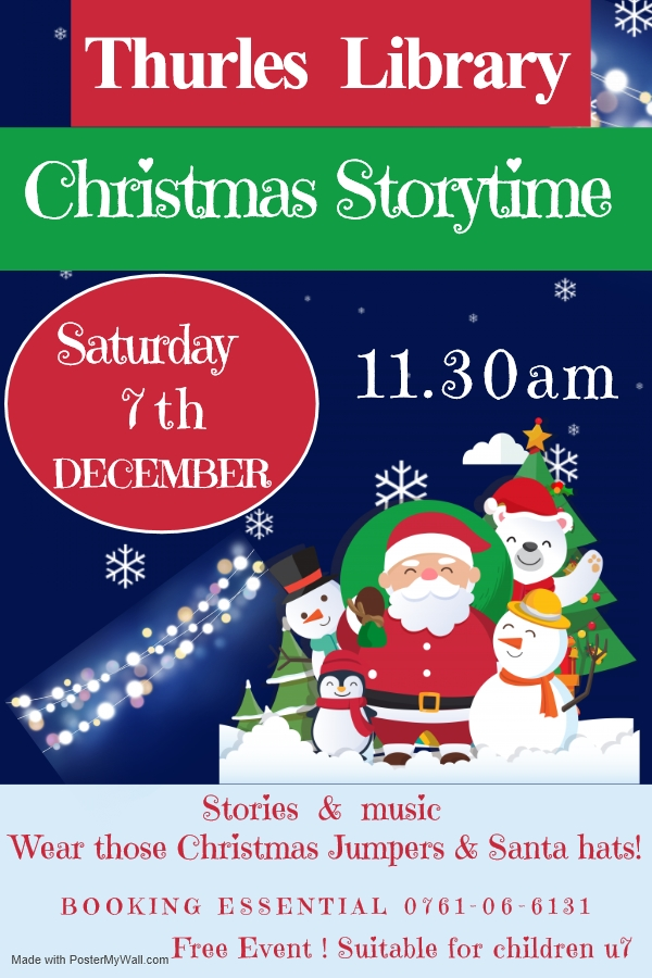 Christmas Story-time At Thurles Library: Sat. 7 Dec. @ 11.30am