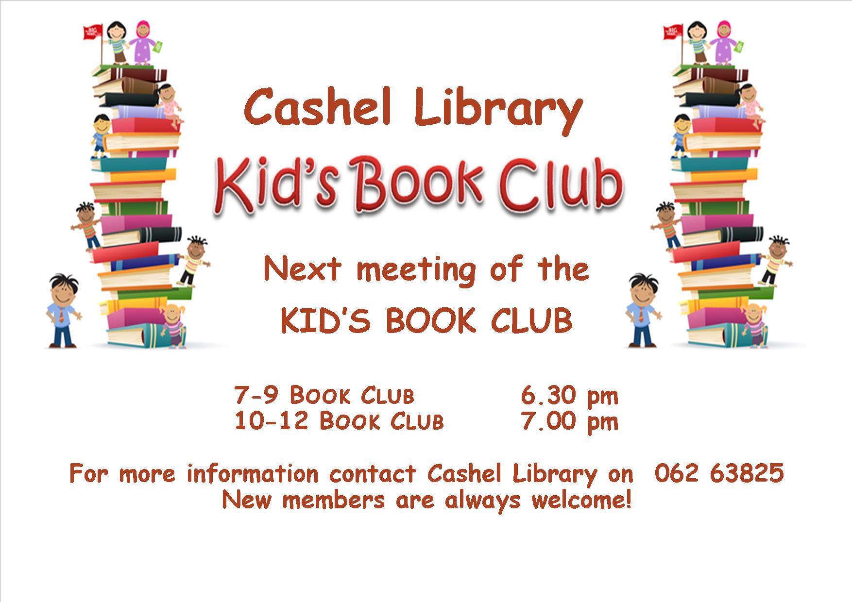 generic kids book club poster