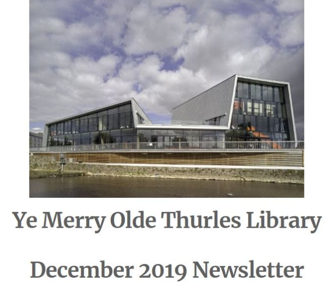 Thurles Library Newsletter – December 2019
