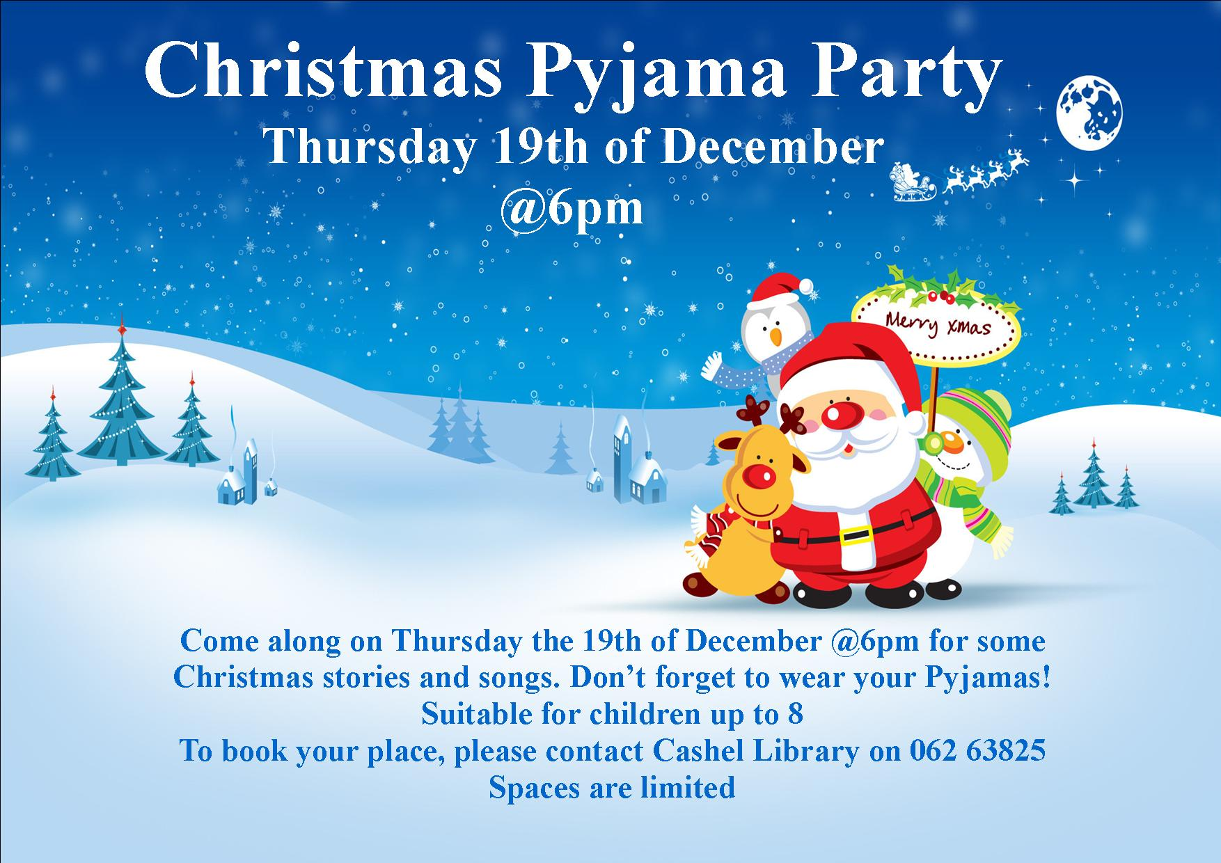 Christmas Pyjama Party In Cashel Library