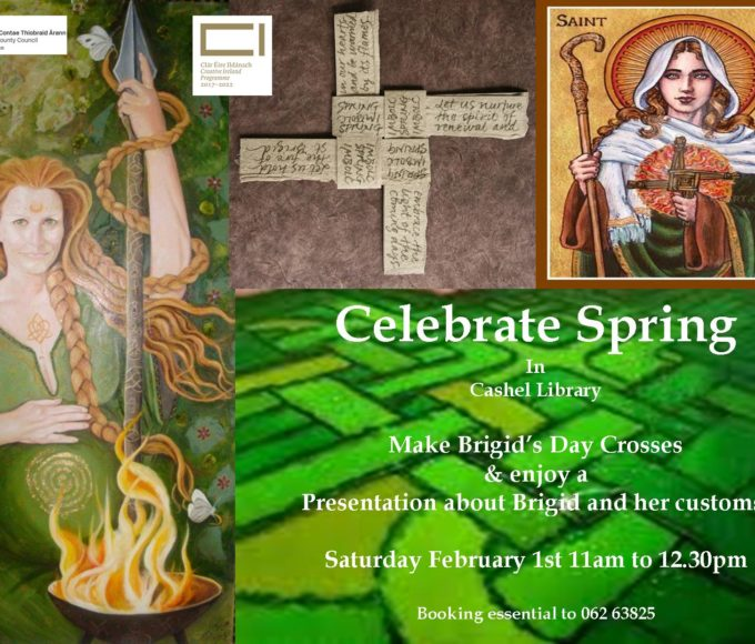 Cashel: Celebrate Spring In Cashel Library February 1st And Learn How To Make A St. Brigid's Cross With Maura!