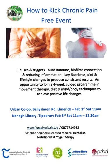 How To Kick Chronic Pain : A Talk In Nenagh Library