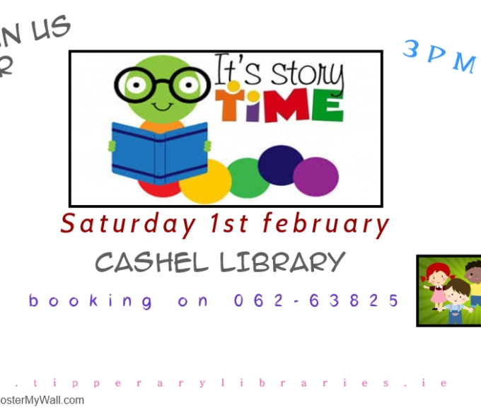 Saturday 1st February Events In Cashel Library!