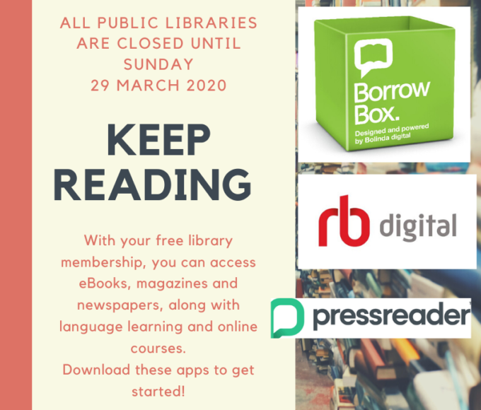 Library Online Services Remain Open