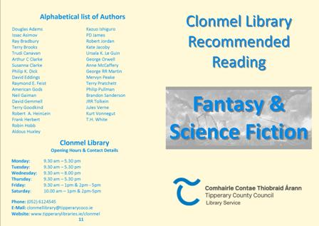 Fantasy and Science Fiction Brochure Cover