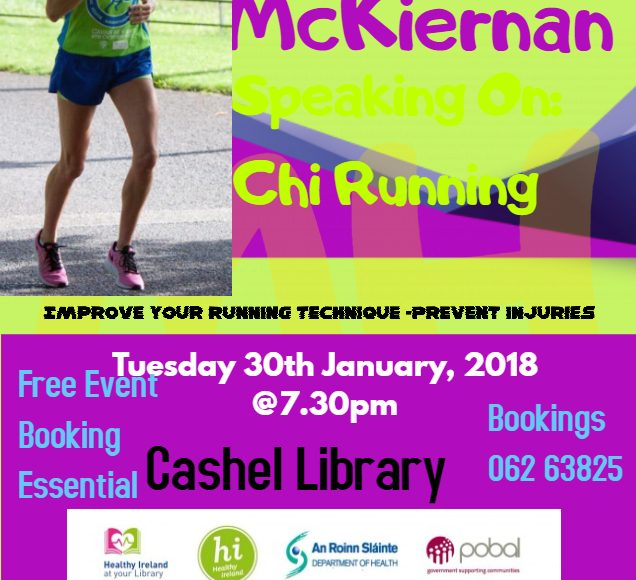 Chi Running With Catherina McKiernan In Cashel Library