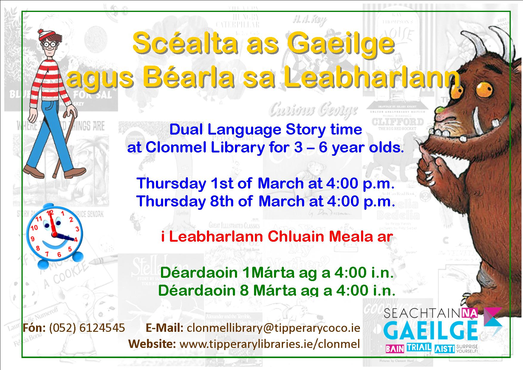 Dual Language Storytime At Clonmel Library