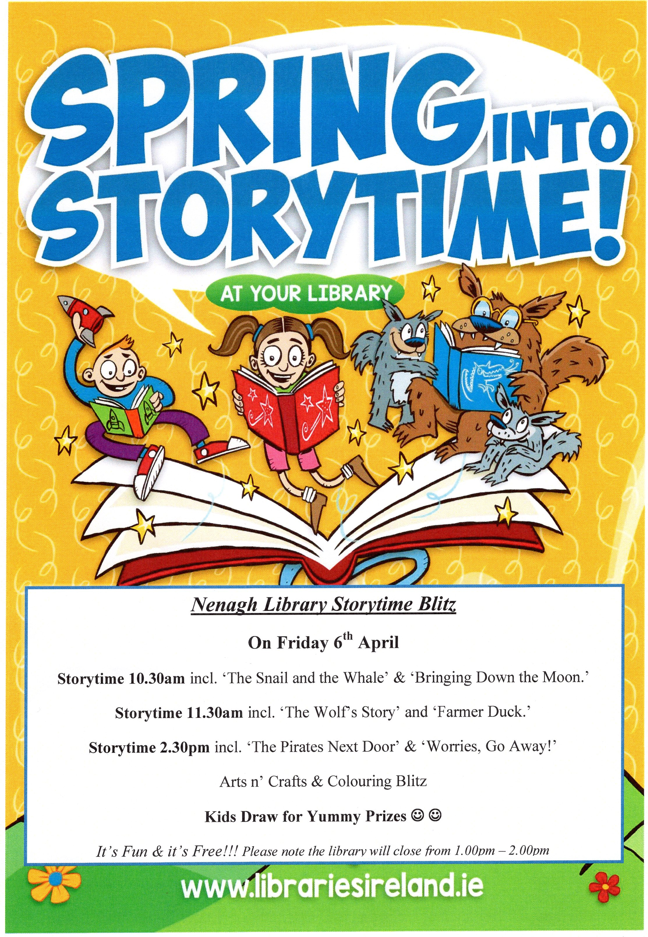 Storytime Sessions And Colouring Blitz In Nenagh Library: Spring Into Storytime