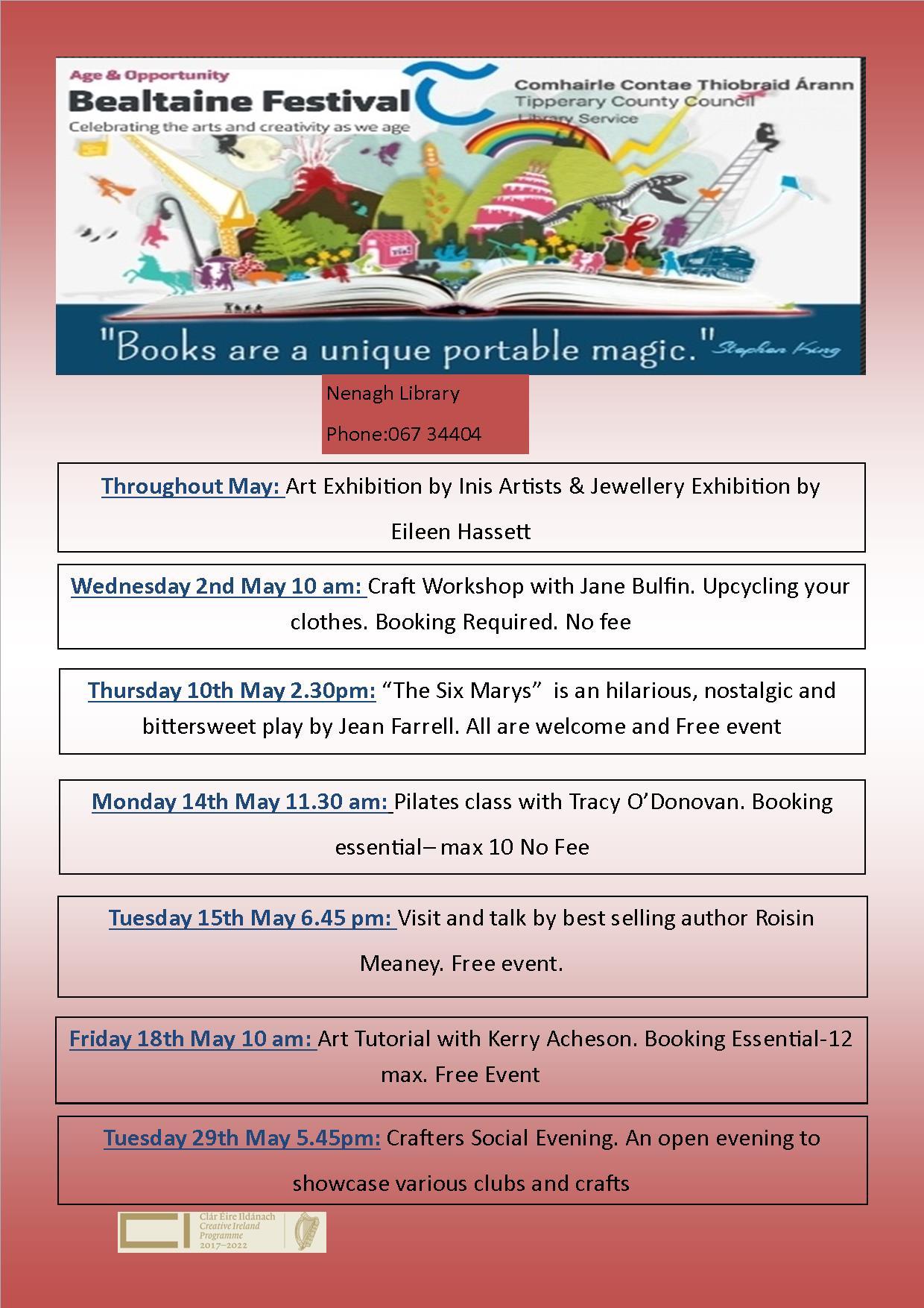 Nenagh Library: Bealtaine Festival