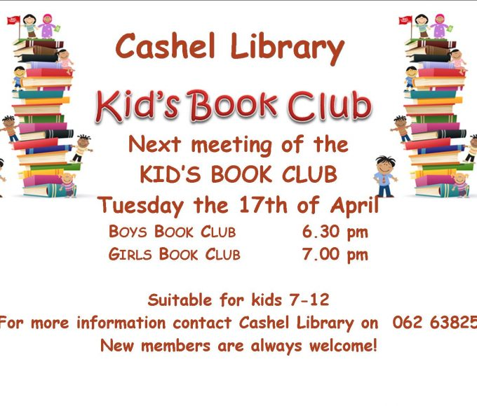 Cashel: Next Meeting Of Kids Book Clubs