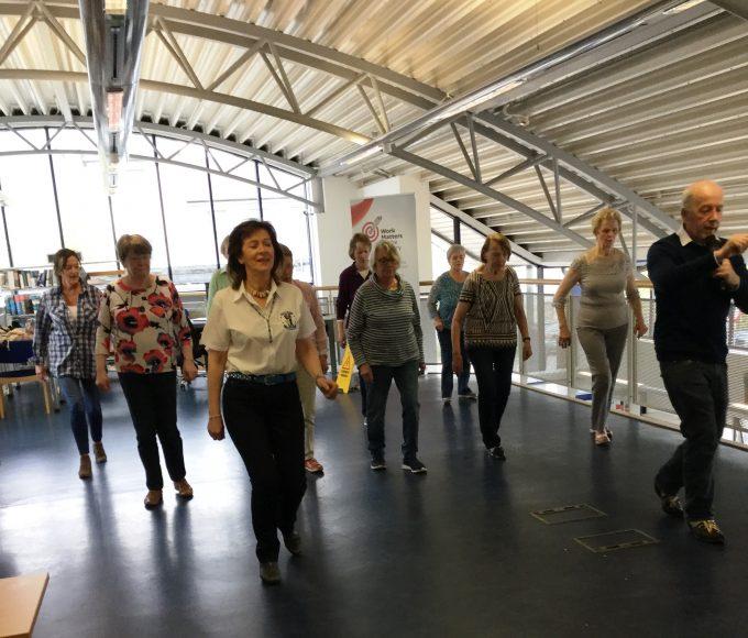 Line Dancing In Cashel Library
