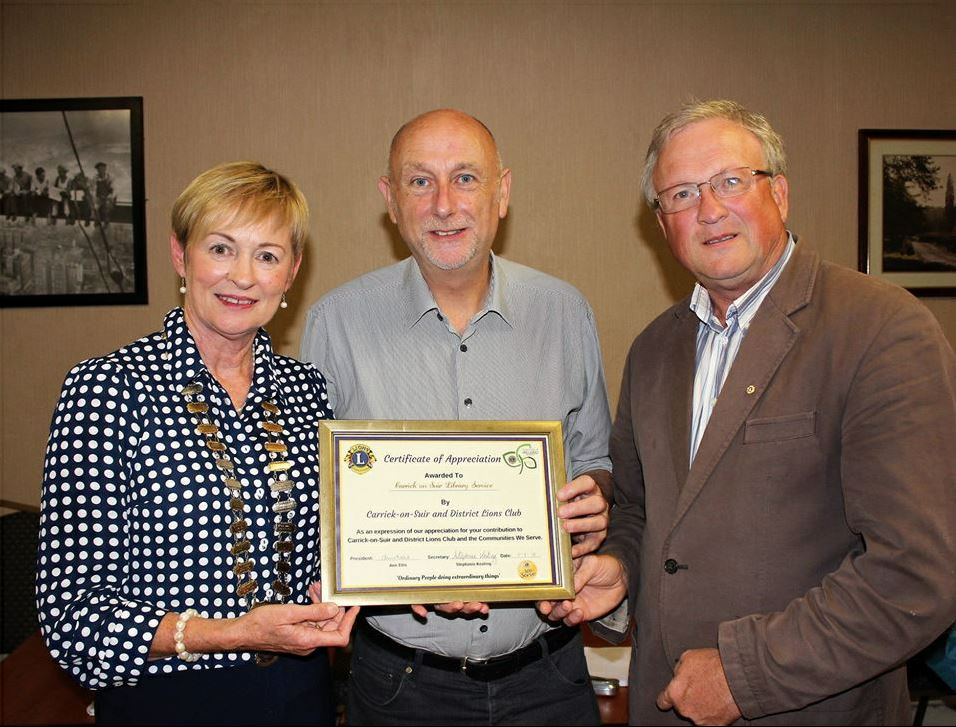 Carrick Library Thanked For Their Services To The Community
