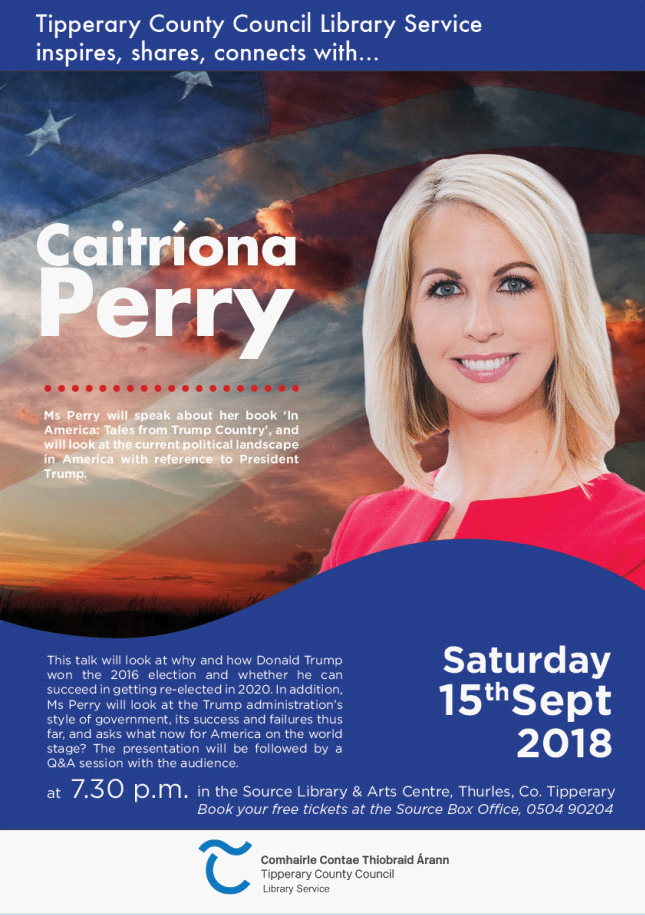 Journalist Caitríona Perry To Speak At The Source Library