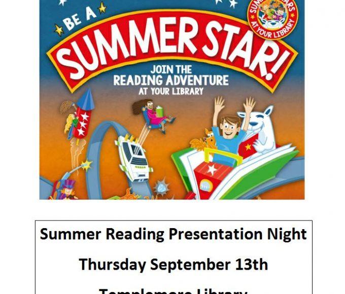 Templemore Summer Reading Stars Presentation Night