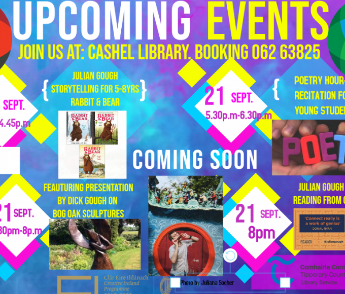 Culture Night In Cashel Library – Friday 21st Of September