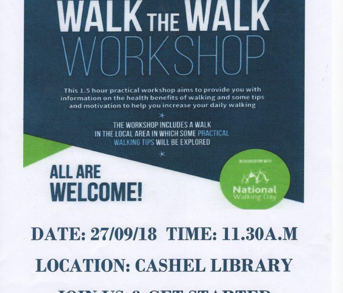 Walk The Walk Workshop In Cashel Library